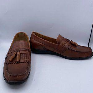 Brown Oxfords Wingtip Shoes Fringe Vintage Brogues
